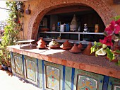 The tagine buffet on the terrace of the Riad le Mazagao in El Jadida, Morocco