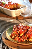 Pasta al forno (Nudelauflauf mit Tomaten-Hackfleisch-Sauce, Italien)