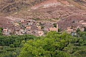 View of the mountain village of Imil in the Atlas Mountains, Morocco