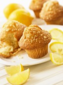 Lemon muffins and fresh lemons