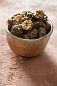 Green potato curry
