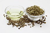 Hemp oil and hemp flour