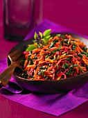 Beetroot salad with grated carrots