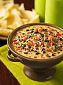 Black bean and pepper salsa with nachos (Mexico)