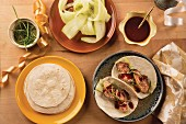 Duck breast wraps with hoisin sauce (Asia)