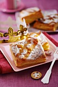 Puff pastry caramel cake from France