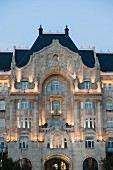 The 'Four Seasons' Hotel in the elegant Gresham Palace in Budapest Hungary (detail)