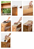 Upcycling - abschleifen und neu lackieren eines Holzregals