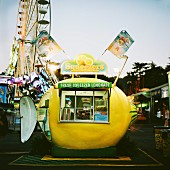 A lemonade stand at a fair, USA