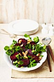 Beetroot with watercress and walnuts