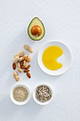 Nuts, avocado, oil and seeds