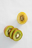 Green and yellow kiwis