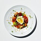 Tomato salad with burrata and bottarga