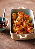 Chilli potatoes with coriander