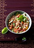 Chickpea and vegetable stew with basil