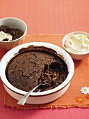 Rich mocha self-saucing pudding
