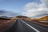 A road on the peninsula of Snaefellsnes (Iceland)