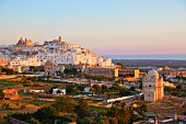 A view over the town of Ostuni (Brindisi, Italy)