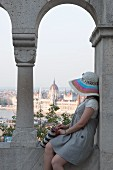 A view from the Fisherman's Bastion of the parliament building, Budapest, Hungary