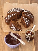 Gingerbread with chocolate glaze