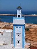 A minaret of a mosque in Larache, Morcco