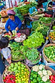 The Central Market in Phnom Penh, Cambodia, Indochina, South-East Asia
