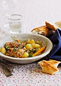 Braised chicken with thyme and sherry