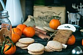 Almond cookies and mandarins (Christmas)