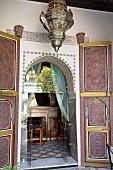Palais Dar Donab in Dar El Basha, Riad in the Medina of Marrakesh, Morocco