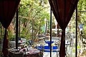 The garden of the Dar Mimoun restaurant, Riad Zitoune Kdim, Medina of Marrakesh, Morocco