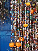 In the main shopping alley in Essaouira, Morocco, you can buy all kinds jewellery in all lengths