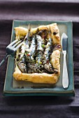 Anchovy tart