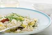 Leek risotto with Parmesan cheese