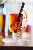 Cinnamon tea with orange zest