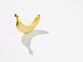 A banana casting a shadow