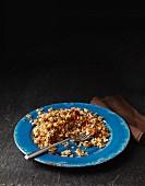 Gebratener Reis mit knusprigem Knoblauch