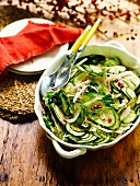 Fennel, zucchini and pomegranate salad