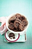 Salted caramel choco-chip cookies