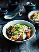 Kimchi Mandu in Brühe (Korea)