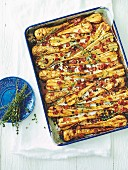 Roasted parsnips with pancetta and maple syrup