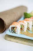 Maki with prawns, unagi and avocado (Thailand)