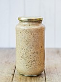Rye sour dough in a jar