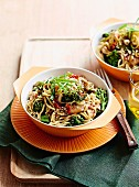 Honey chicken stir-fry noodles
