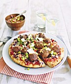 Tex-Mex pan pizza
