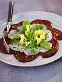Beetroot and scallop carpaccio