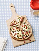Tarte flambée with courgette and bacon as baby food