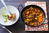 Fiery turkey chilli with courgettes and mixed beans
