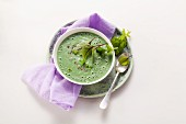 Cold green smoothie soup