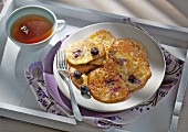 Blueberry pancakes with oats