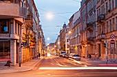 Die Görlitzer Straße in Äußerer Neustadt in Dresden